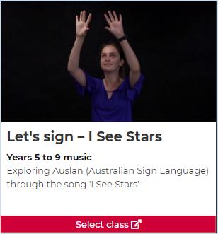 Let's sign: 'I See Stars'