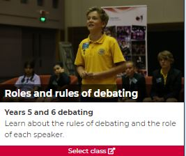 Roles and rules of debating