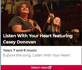 Listen With Your Heart featuring Casey Donovan