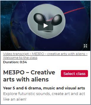 ME3PO – creative arts with aliens